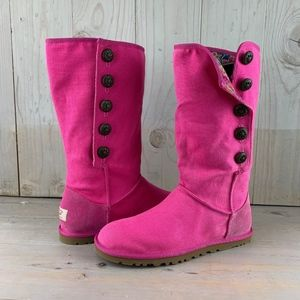UGG LO PRO MARRAKECH RASPBERRY CANVAS BOOT